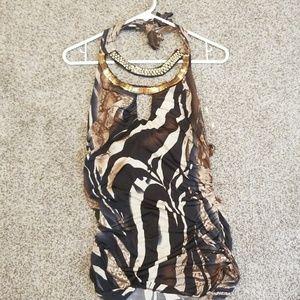 Medium leopard print top